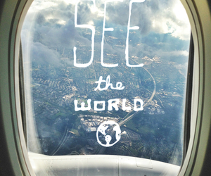 world, travel, and plane image