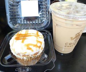 food, coffee, and cupcake image