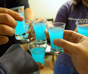 drink, blue, and Shots image
