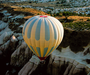 balloon, landscape, and air image