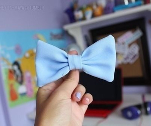 bow, blue, and baby blue image