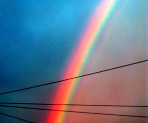 rainbow and vintage image