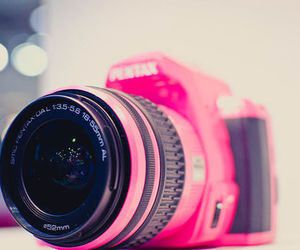 pink, camera, and photography image