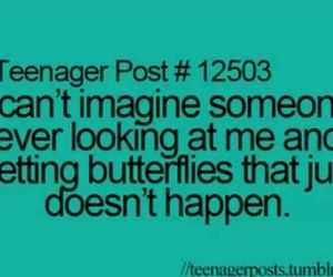teenager post, butterfly, and quote image