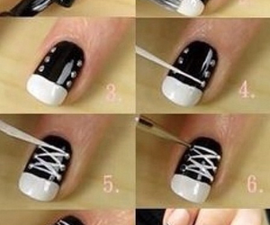 nails, diy, and converse image