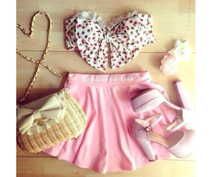fashion, pink, and outfit image