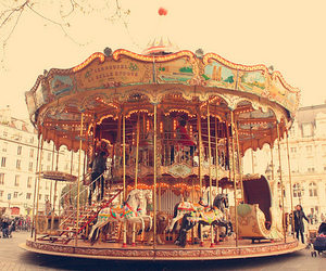 carousel, fun, and vintage image