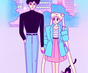 sailor moon, mamoru chiba, and love image