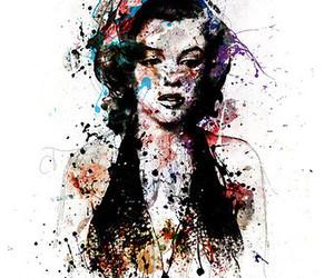 illustration and Marilyn Monroe image