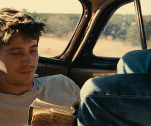 garrett hedlund, on the road, and book image