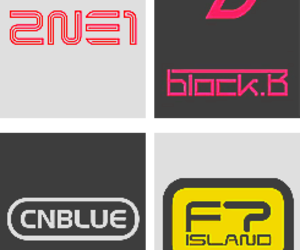 2ne1, bands, and ft island image