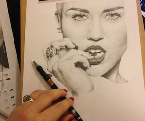 drawing and miley cyrus image