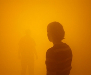 art, mist, and people image
