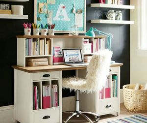 desk, decoration, and room image