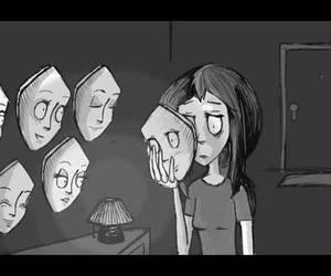 mask, sad, and life image