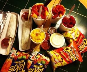 chile, hot cheetos, and mexico image