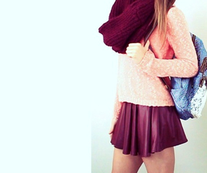 backpack, blue, and girl image