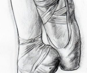 ballet, ballet shoes, and drawing image