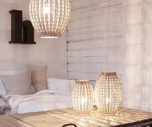 bedroom, lights, and luxury image