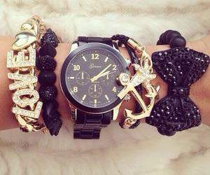 bracelet, jewellery, and watch image