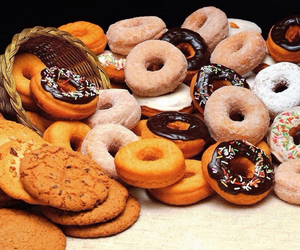 food, donuts, and Cookies image
