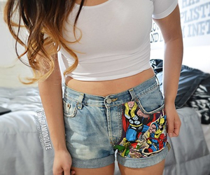 shorts, Marvel, and tumblr image