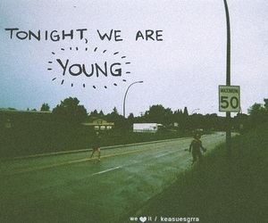 young, tonight, and quote image