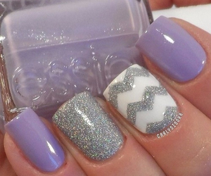 glitter, lavender, and nails image