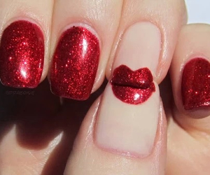 nails, red, and lips image