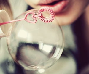 bubbles, pink, and heart image