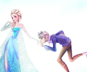 frozen, jack frost, and jelsa image