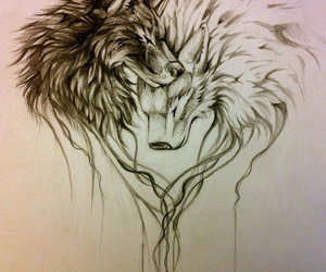 wolf and heart image