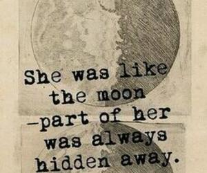 moon, quotes, and hidden image