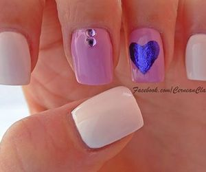 foil, nails, and purple image