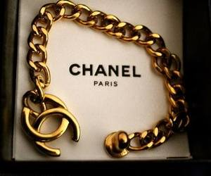 chanel, gold, and paris image
