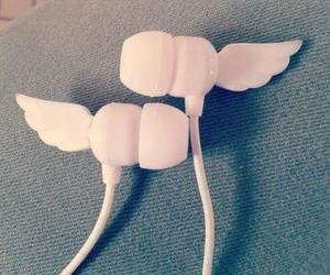 earphones, listen, and wings image