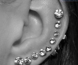 diamond, ear, and piercing image