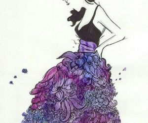 draw, dress, and flower image