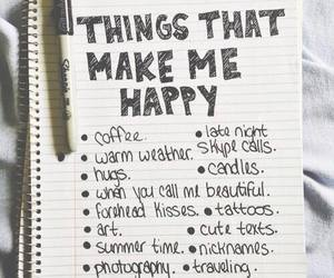 happy, things, and coffee image