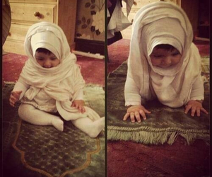 baby girl, cute baby, and hijab <3 image