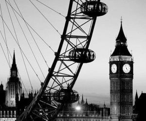 black and white, Dream, and london image