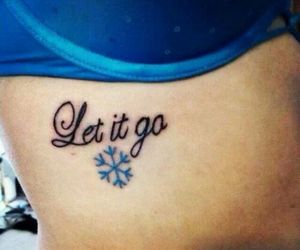 frozen, let it go, and tattoo image