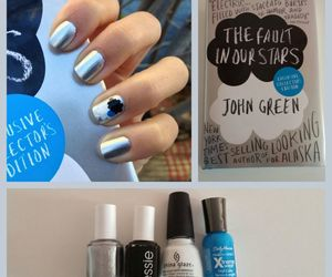 the fault in our stars, nails, and book image
