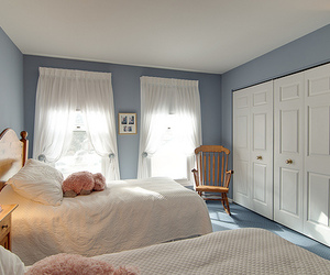 bedroom, blue, and house image