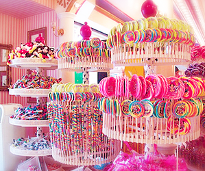 candy, pink, and sweets image