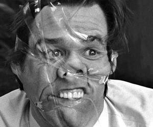 jim carrey, funny, and black and white image