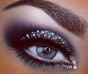 eyeliner, eyes, and girl image