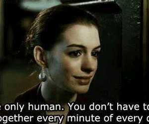quote, human, and Anne Hathaway image