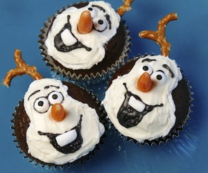 cupcake, olaf, and chocolate image