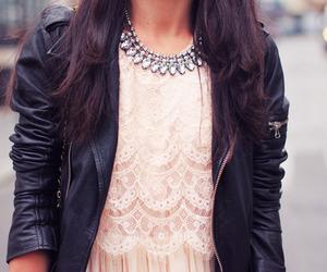 fashion, pink, and lace image